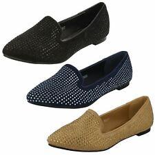 Ladies Gem Detailing Casual Shoes Spot On