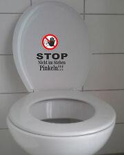 WC Aufkleber STOP Nicht im Stehen Pinkeln!!!  Toilette - Sitz - Bad - Klodeckel