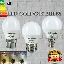 LED Golf Ball 3W 5W 7W BC ES SES Mini Globe Light Bulbs Warm Cool White Day Best