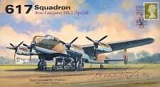 RAF signed cover WW2 WWII 617 Sqn RAF Lancaster cover signed KEN TRENT DFC AV600
