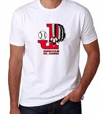 Indios de CD. Juárez Baseball Men's T-shirt Crew Neck 100% Cotton
