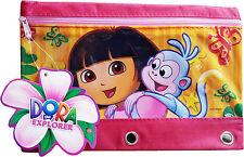 Disney Minnie Mouse, Dora, Spiderman Zipper Pencil Pouch Pencil Case 3 Rings NWT