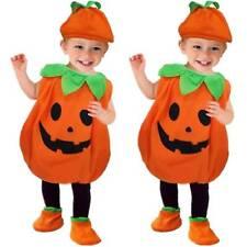Halloween Baby Kinder Kürbis Cosplay Kostüm Schuhe Hut Outfit 3TLG Party Anzuge