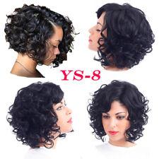 Fashion Hot Short Black Wave Curly Wig Brazilian Virgin Human hair Bob Wig 125g