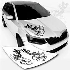 Geckos with Hibiscus Flowers Car Sticker * TOP * LIZARD GECKO MOTIF Autotattoo