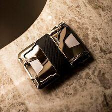 Dango M2 Maverick Wallet - Nickel Plated - Hand Polished - Single Pocket Leather