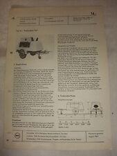 Original DDR Reklame Datenblatt Dieselkompressor DIKO 4/8 VEB Zwickau 1969