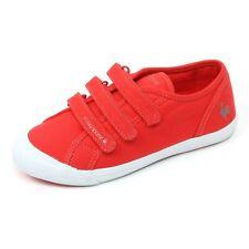 C3664 sneaker bimbo LE COQ SPORTIF DEAUVILLE scarpa rosso strappi shoe kid