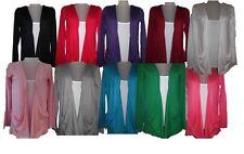 Donna Manica Lunga ragazzo top cardigan maglione cardigan 8-20