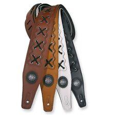 ░▒▓█ GAUCHO Buffalo Lace Gitarrengurt █▓▒░ Schnürung Leder gepolstert -648