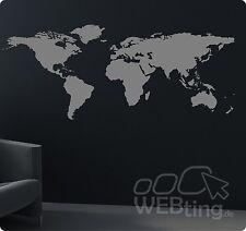 Weltkarte Globus Weltkugel Wandtattoo Aufkleber Welt Sticker World Earth Kugel