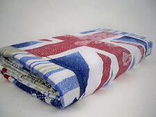 UK flag bridge cotton fabric curtain purse bag Upholstery printed canvas fabric