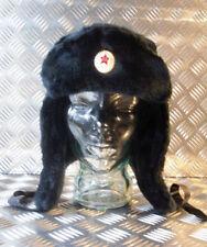 Russo/sovietico/Ussr Nero Cosacco Cappello Con Orecchie Flap. tutte le Taglie-Nuovo di Zecca