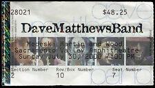DAVE MATTHEWS BAND 7/30/2000 Tour Concert Ticket!!! Sacramento,CA AMPHITHEATRE