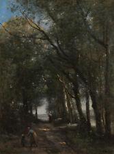 "Camille Corot : ""A Lane through the Trees"" (c.1870-1873) — Giclee Fine Art Print"