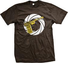 Golden Gun Movie Action Spy Shoot Gold Kill Secret Bullet Spiral Men's T-Shirt