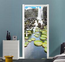 3D Waterfall 606 Wall Stickers Vinyl Murals Wall Print Deco AJSTORE UK Kyra