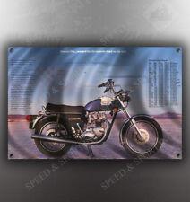 VINTAGE TRIUMPH BONNEVILLE MOTORCYCLE BANNER