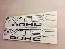 (2)I-VTEC DOHC DECALS JDM SI K20 FA5 OEM RSX MUGEN SLAMMED DUMPED BOOSTED