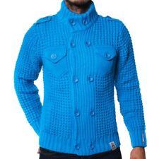 Rusty Neal Herren Strickjacke Cardigan MASTERY türkis blau R-6790 S M L XL XXL