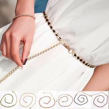 Cintura Donna catena colore oro dorato PERLE BIANCHE O NERE cinta art. D0637