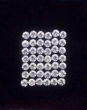 1.75 mm Lot 10,20,50,100pcs Round Diamond Cut Calibrated Natural White ZIRCON