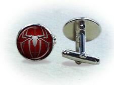 Spiderman Cufflinks or Tie Clip - Superhero Cufflinks