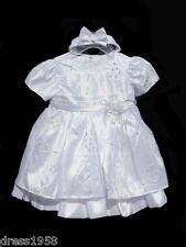 Baby Girl Baptism ,Christenin Dress, White, Size: Medium (6-12 Month)