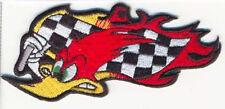 WOODY RACING FLAG EMROIDERED JACKET VEST BIKER PATCH