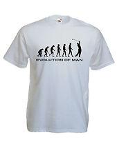 T-shirt humoristique homme Evolution of man GOLF, S, M, L, XL, NEUF.. NEW