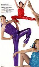 NWT FOIL BOOTCUT PANTS JAZZ DANCE Majorette $36 Rtl Ch/Ladies Shiny 2 colors