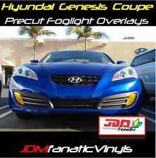 10-12 Genesis Coupe Yellow Fog light Overlays Rally JDM EDM Tint Vinyl Film Kit
