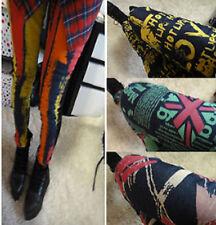 Lady Women Graffiti Jeans Denim Look Slim Flag Print skinny Pants Tights jegging