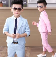 2pcs Kids Baby Boys Formal Suit For Wedding Concert Party Coat+Pants Clothes Set