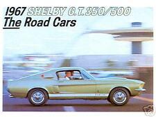1967  67  SHELBY G.T. 350/500  SALES BROCHURE