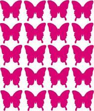 100 Vinile Farfalla Adesivi 20mm CARDS / artigianato / Scrapbook / Laptop / Auto qualsiasi colore