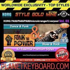 82 STYLES Dance Funk & Blues Rock Korg PA50 PA80 microArranger Liverpool