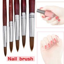 Professional Kolinsky Acrylic Nail Art Brush Manicure Powder Wood Handle Supply