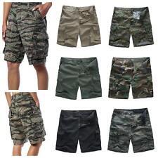 Mens Army Military Combat Shorts Fashion Camo Cargo Shorts Camping Work Fishing