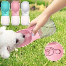 Puppy Dog Cat Pet Water Bottle Drinking Travel Outdoor Portable Feeder 350ML US