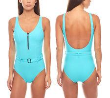 Figurformender-Badeanzug mit Gürtel große Oberweite Schwimm Shaping Türkis heine