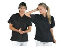 Casacca chiusa camice a V corta NERA da Lavoro Mezze Maniche 45031 Uomo Donna