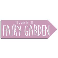 Fairy Garden   Metal Arrow Wall Sign Plaque   Various Colours   Den Treehouse