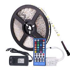 5050 RGB LED Strip DC 12V 5M 300LED RGBW/WW LED Light Strip with 3A Power+Remote