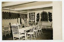 RPPC Colonial Dining Room Interior c1940s