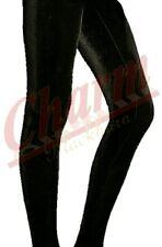 Women's Girls Sexy Summer Thin Skinny Velvet Velour Stretchy Leggings 8 10 12 14