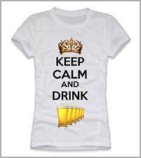 T-SHIRT UOMO DONNA KEEP CALM AND DRINK BIRRA GEN0435