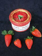 16,50€=1000m, 4-fädig, Dreiecktuch-Bobbel SPEZIAL, Erdbeere, Verlaufsgarn, LL >>