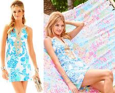 $208 Lilly Pulitzer Emery Barefoot Princess Metallic Soutache Shift Dress