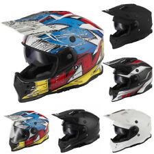 Vcan V331 ACU Gold Motorcycle Motocross MX Helmet Dark Sun Visor Pinlock Ready